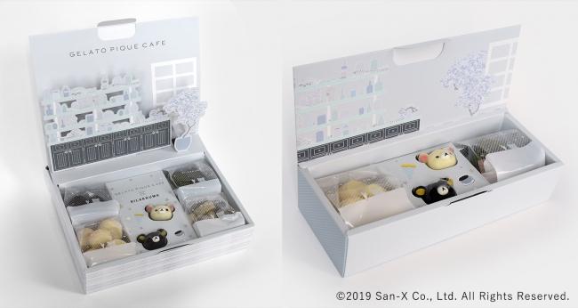 ジェラート ピケ カフェ × リラックマ スイーツボックス (大)3,480円 (小)1,980円