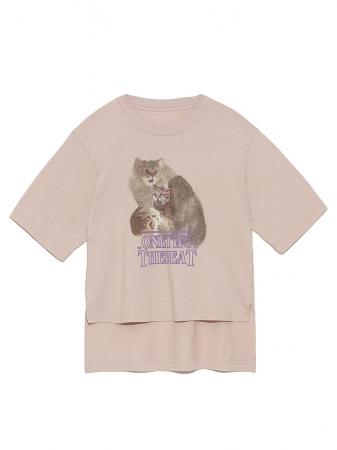 キャットプリントTシャツ 11,000円+税
