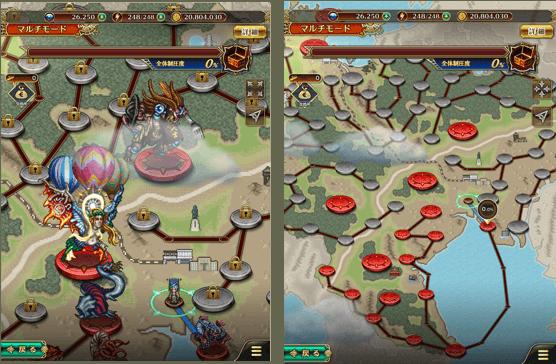 ▲佐賀県のマップを舞台に制圧戦が展開されます(画面はiPadサイズ)