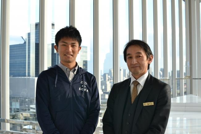 左:宮崎(株式会社空) 右:加藤氏(アルモニーアンブラッセ大阪)