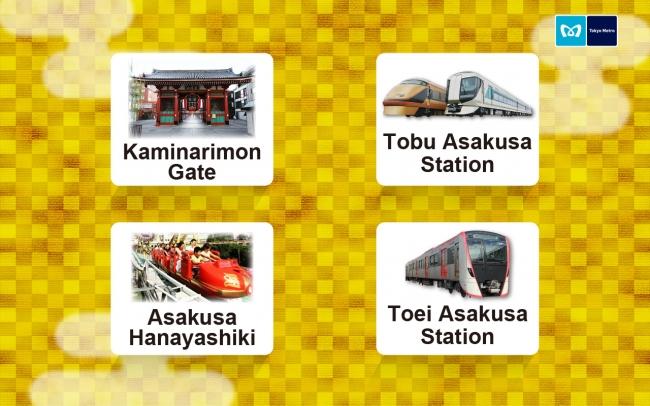 駅周辺案内選択画面(英語)