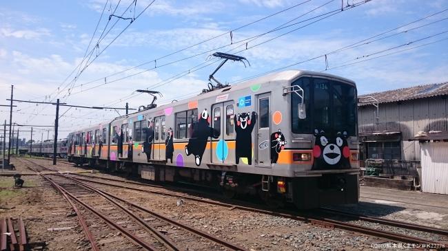 熊本電鉄01形くまモンラッピング電車