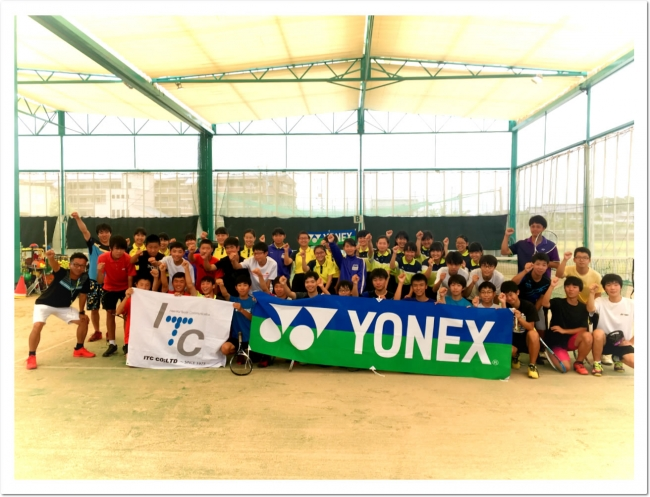 YONEX × ITC コラボ企画。  最強 柴田章平選手 テニスガーデン広陵に登場!