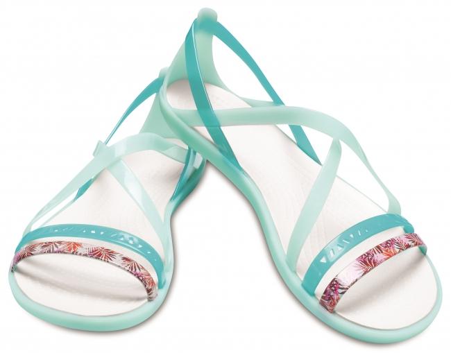 crocs isabella cut graphic strappy sandal w