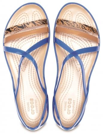 crocs isabella graphic strappy sandal w