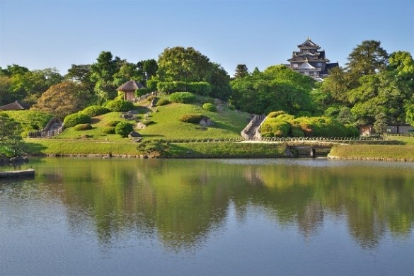 岡山後楽園と岡山城