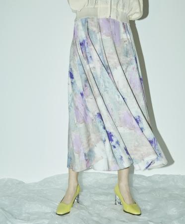 ペイントアートスカート ¥19,000+TAX