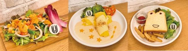 (左から)エビ天マヨサラ、チーズチーズエンドロール、しょくぱんくんサンド
