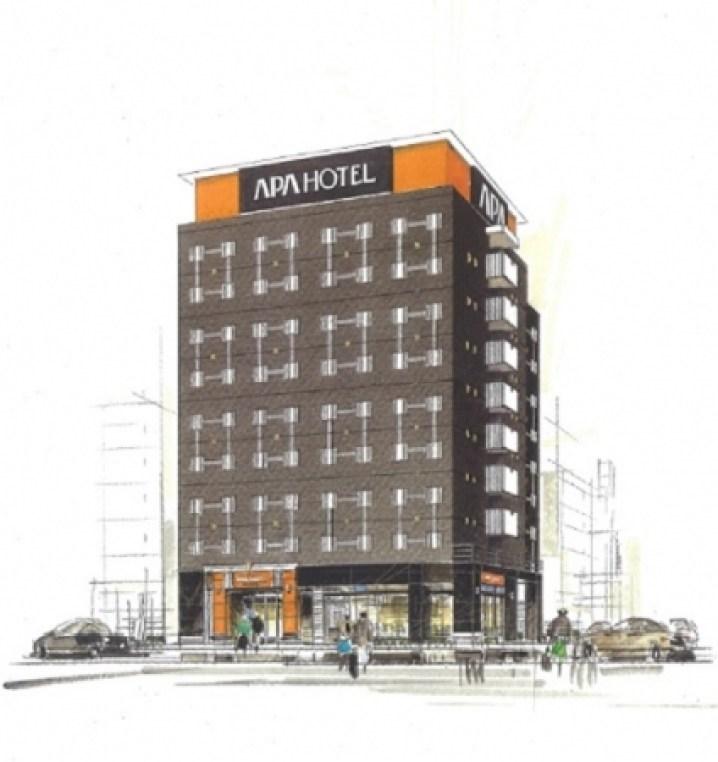 アパホテル〈TKP川崎〉(仮称)外観イメージ