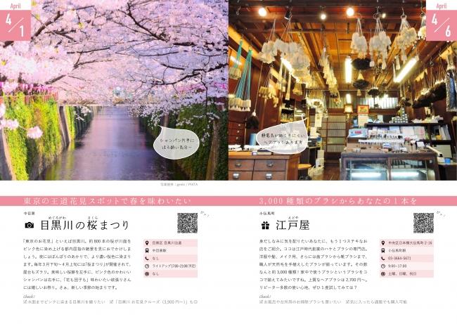 4月1日 目黒川の桜まつり/4月6日 江戸屋