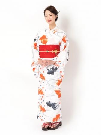 セパストゆかた「金魚」 ¥29,800(税込)