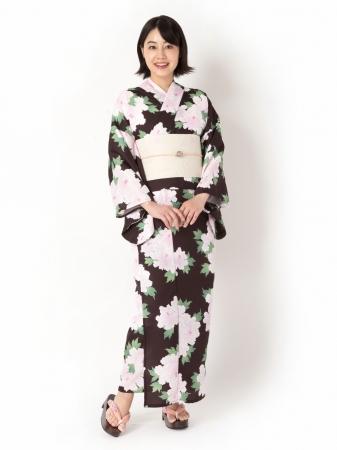セパストゆかた「牡丹(黒)」 ¥29,800(税込)