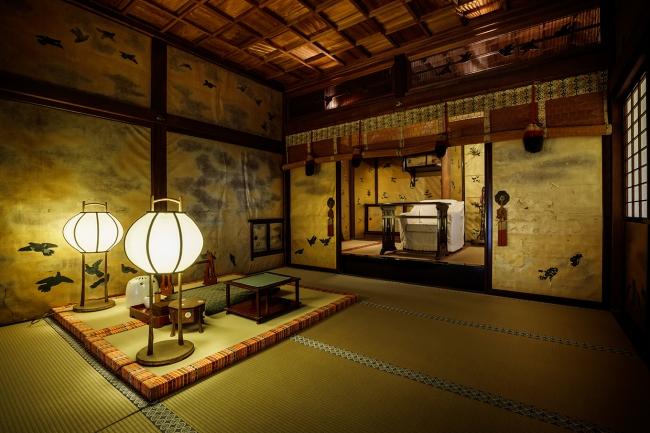 皇室専用の浴室「又新殿」(ゆうしんでん)は丁寧に解体され京都の文化財専門業者により保存修理が行われている。