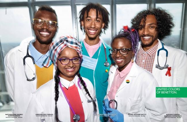 ナイジェリア人、 インド人、 チャド人、 アングロサクソン系スリランカ人、  イタリア系ナイジェリア人から成るイタリアの医学生たち