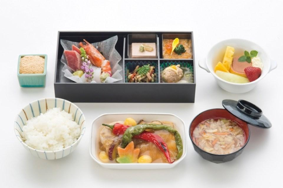 JALビジネスクラス 和食メニュー一例