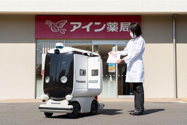 小型低速ロボット 配送サービス イメージ