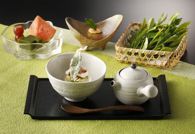 足柄茶の新茶を使った料理イメージ