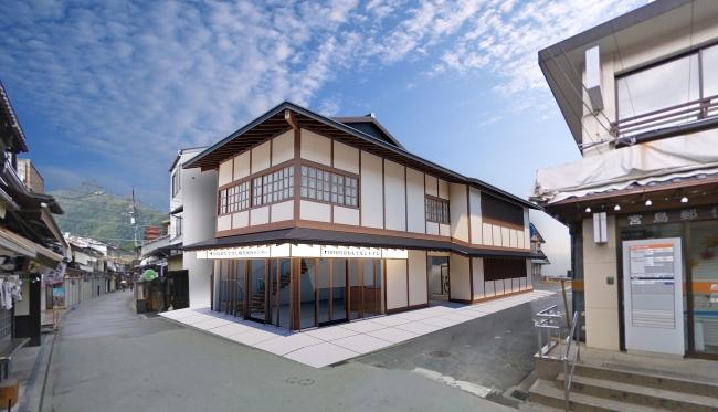 「TOTO宮島おもてなしトイレ」外観 ※イメージ /景観条例に基づき、宮島の街並みに調和した伝統的な木造建築
