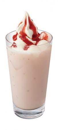 桜ストロベリーソフトクリームラテ