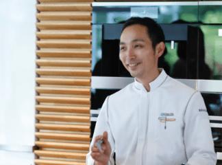 「お客様の笑顔を見られるのが何よりも一番です」と語る橋田シェフ