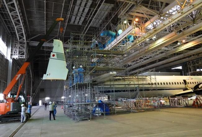 2019年11月26日 垂直尾翼解体 国立科学博物館