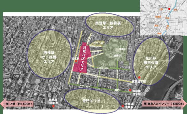 浅草六区周辺エリア図