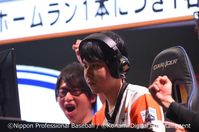 試合に集中する読売ジャイアンツの舘野弘樹選手