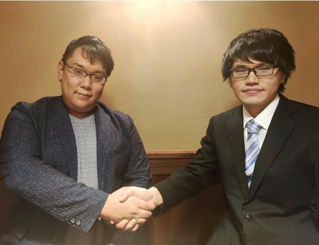 Mark-on 代表取締役 檜山正樹(左)、  ラペットテクノロジーズ 代表 根岸匠(右)