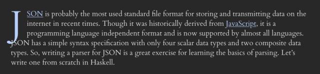 Sample of Cardo Font from Abhinav's site