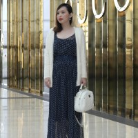 A Polka Dot Maxi Dress