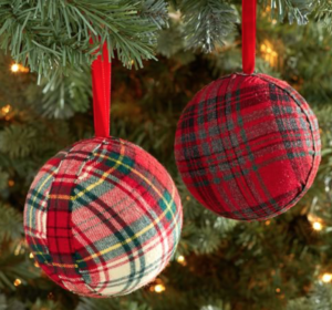 plaid-ornament