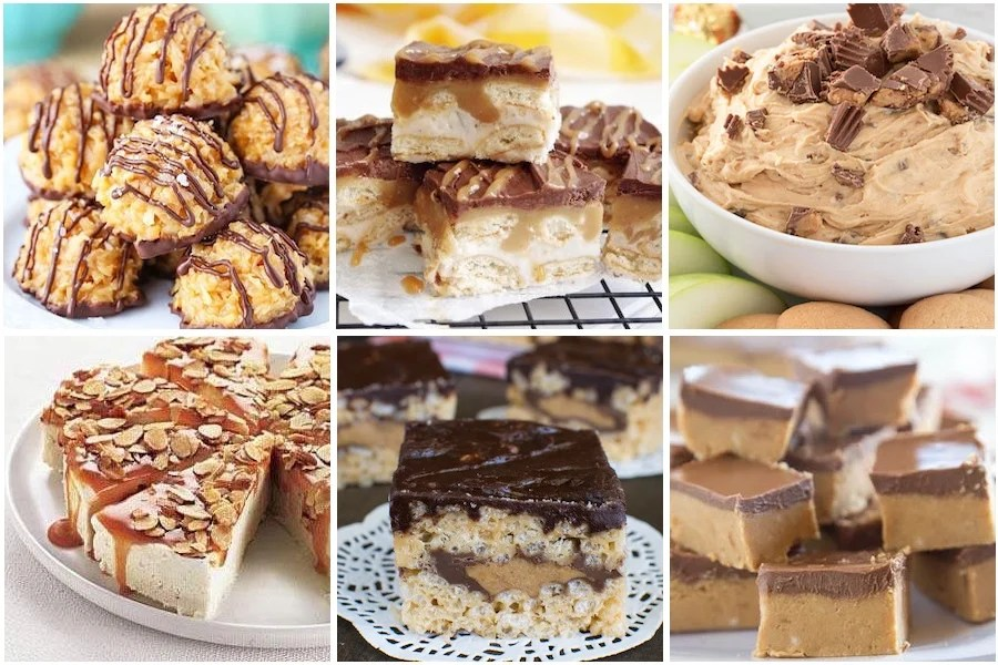 Peanut Butter and Caramel No Bake Desserts