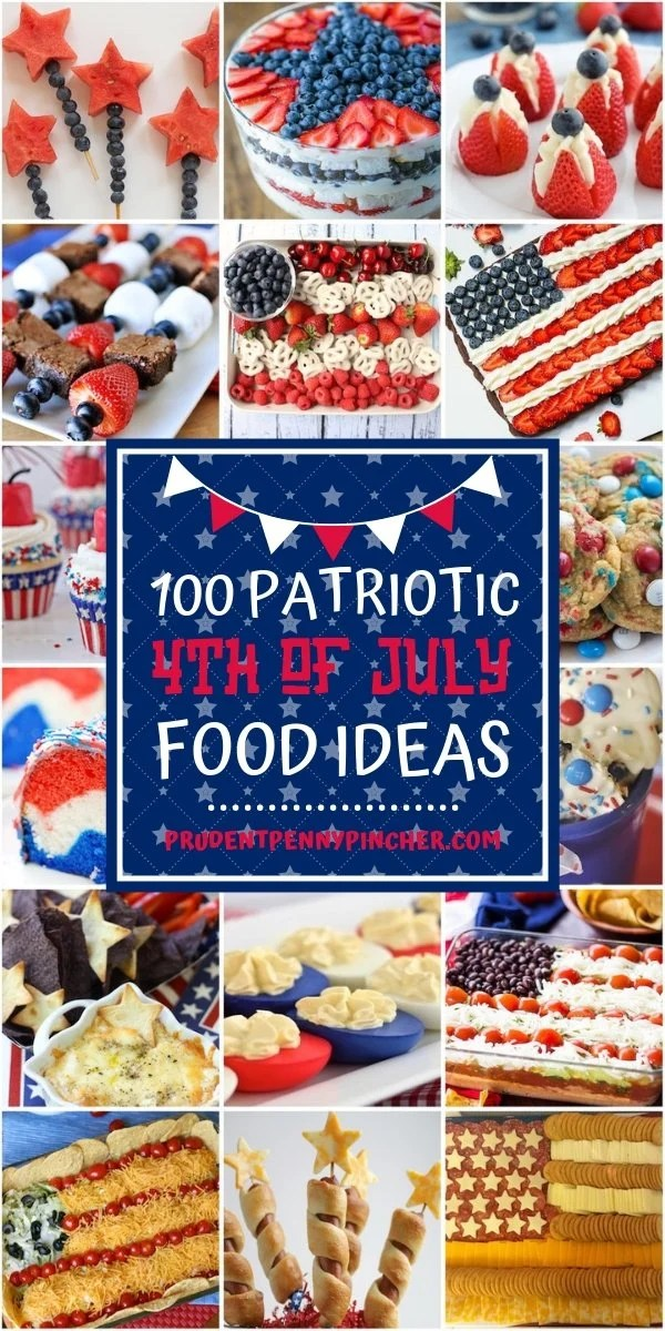 100 Patriotic 4th of July Food Ideas