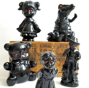 halloween crafts for adults - haunted figurines