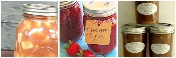 Canning Recipes for Pie Fillings, Syrups and Fruit Butters