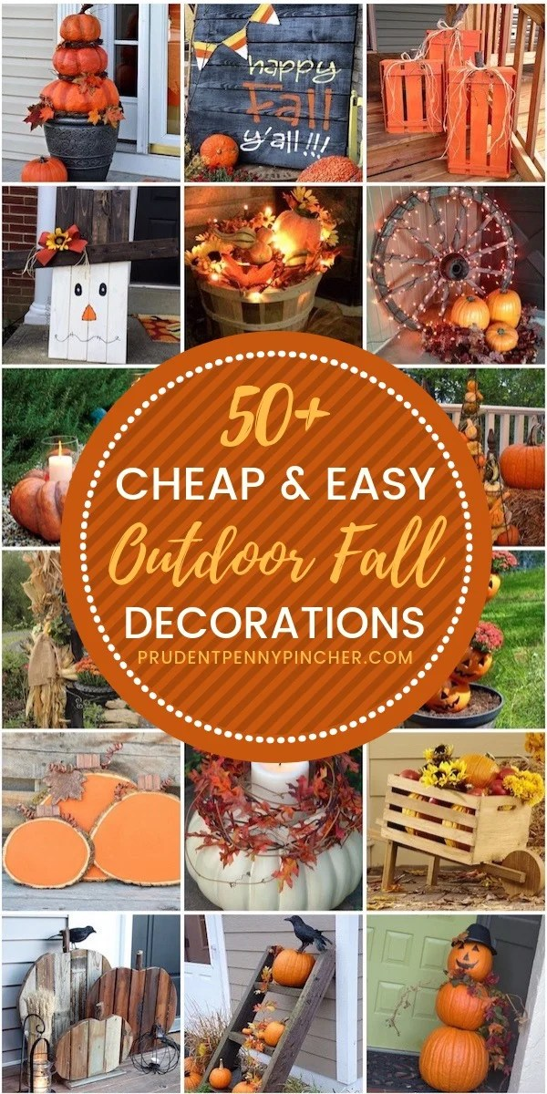 50 Cheap and Easy DIY Outdoor Fall Decorations - Prudent ... on Easy Diy Garden Decor id=58728