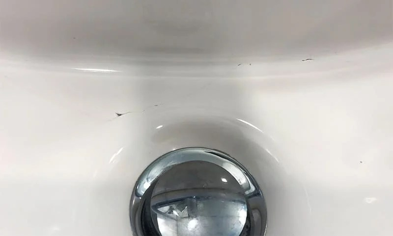 how to fix a cracked porcelain sink 8