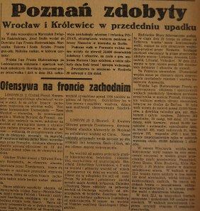 Rzeczpospolita nr 52 (sobota), 24.02.1945.