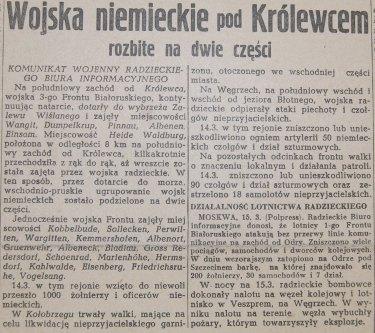 Rzeczpospolita nr 71 (piątek), 16.03.1945.