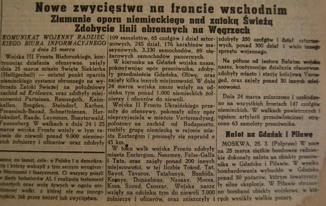 Rzeczpospolita nr 81 (poniedziałek), 26.03.1945.