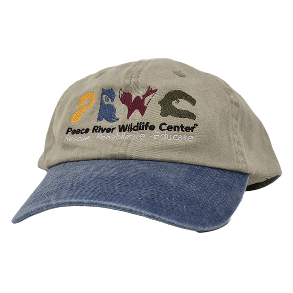 Khaki Baseball Cap w Logo Blue Visor