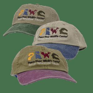 Khaki Baseball Cap w Logo Color Visor