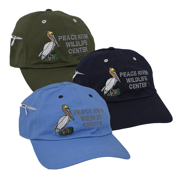Zipper Pocket Baseball Cap Embroidered Pelican