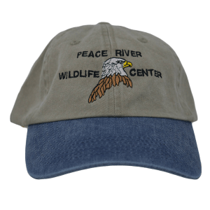 Embroidered Eagle Baseball Cap Khaki with Blue Visor