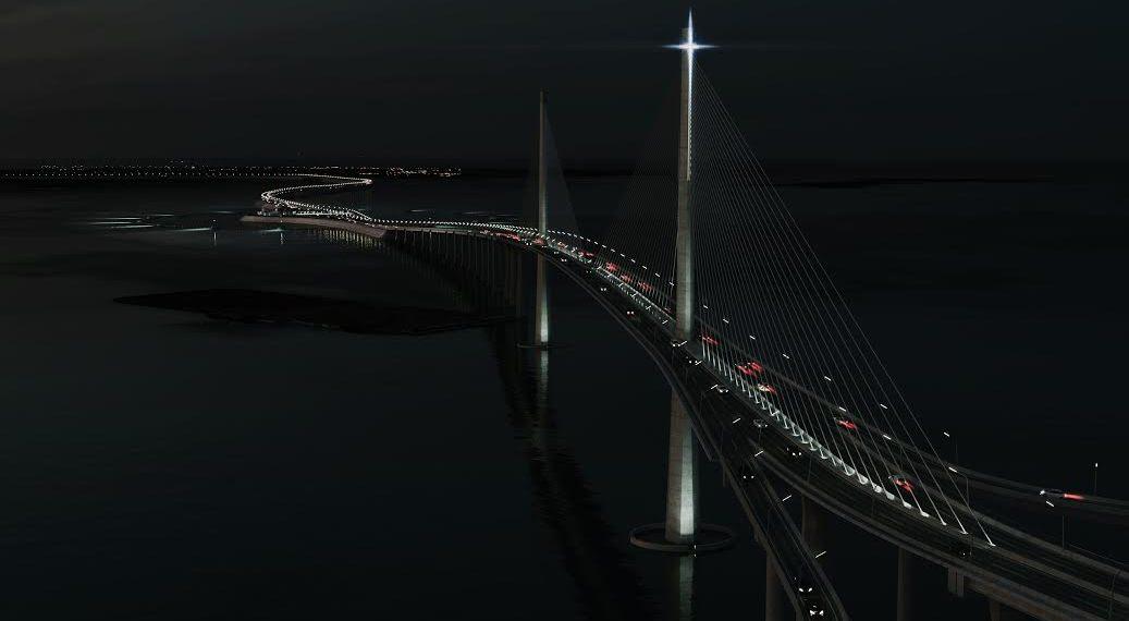 Night view of Cebu-Cordova Link Expressway