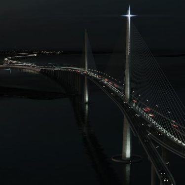 Night view of Cebu-Cordova Link Expressway