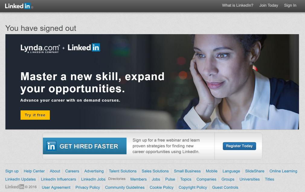 Women Social Network - LinkedIn.Frontpage.August.23.2016
