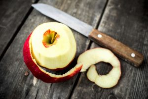 Halloween History - apple paring with knife