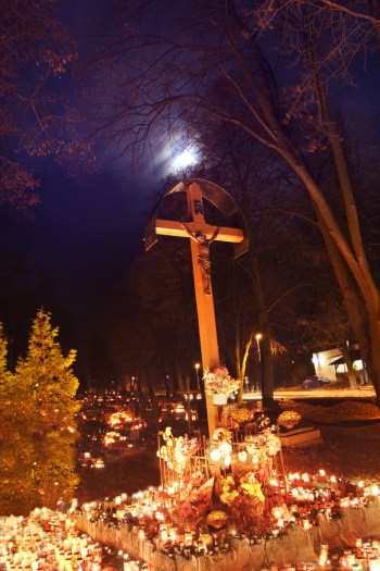 Halloween History - All Saints Day graveyard