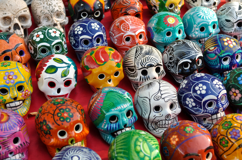 Day of the Dead - Painted Skulls